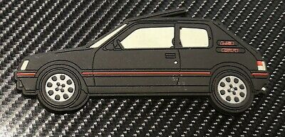 Peugeot 205 gti fridge magnets , Black