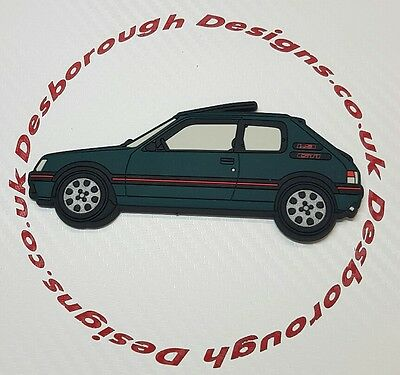 Peugeot 205 gti fridge magnets , Sorrento Green