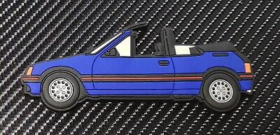 Peugeot 205 Cti fridge magnets , Miami Blue