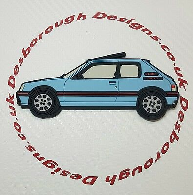 Peugeot 205 gti fridge magnets , Topaz Blue