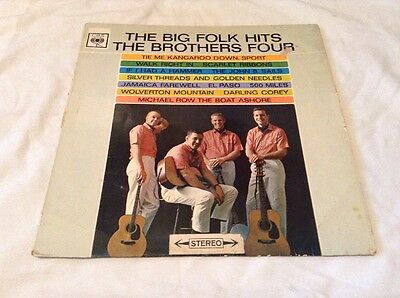 The Brothers Four-Big Folk Hits LP.1963 CBS BPG62194.El Paso/John B Sails+