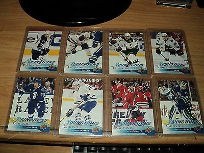 2016-17 Ud Series#1&2 Young Guns Canvas Lot Of 16, Wow!!!!