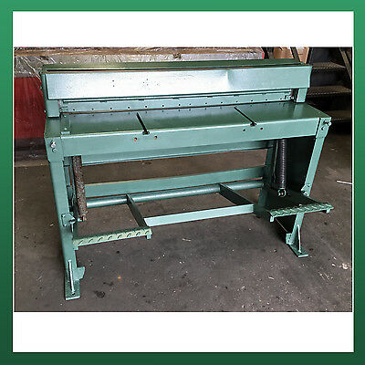 USED - EDWARDS Treadle Guillotine 1270mm x 1.5mm Capacity / Shear Cropper Cutter