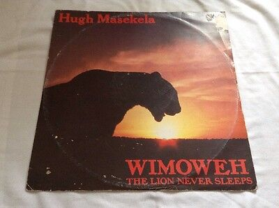 "Hugh Masekela-Wimoweh (The Lion Never Sleeps) 12"" Single.Jive Afrika JIVE T 76."