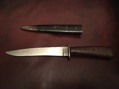 WWII Original German Puma Boot/Fighting Knife with Scabbard