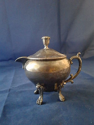 Vintage Silverplated Footed Creamer With Lid