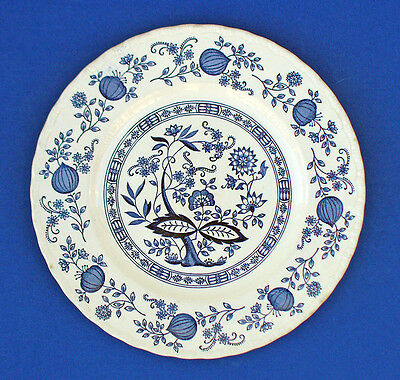 "BLUE HERITAGE Dinner PLATE 10"" ~BLUE ONION~ Pattern Vintage Made in ENGLAND"