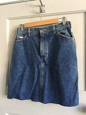 Vintage Lee Denim Cut off Skirt 10 12