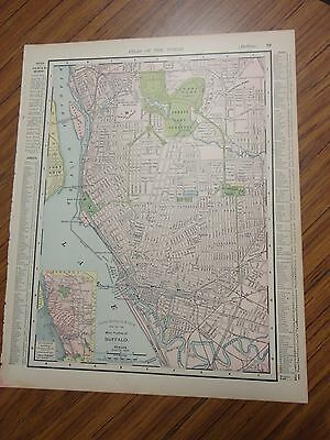 1895 antique colored map of Buffalo-Rand, McNally's & Co's Atlas of the World
