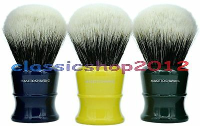 MS  - 2 Band 100% Finest Badger  Shaving Brush & Classic B&Y&G Handle 30mm Knot