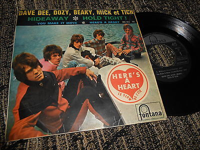 """DAVE DEE,DOZY,BEAKY,MICK&TICH Hideaway/Hold tight! +2 EP 45 7"""" 1966 SPAIN"""