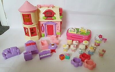 Hello Kitty playset house with accessories and figure