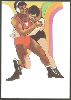 Us Postcard 1984 Olympics Wrestling 20C Stamp La First Day Of Issue