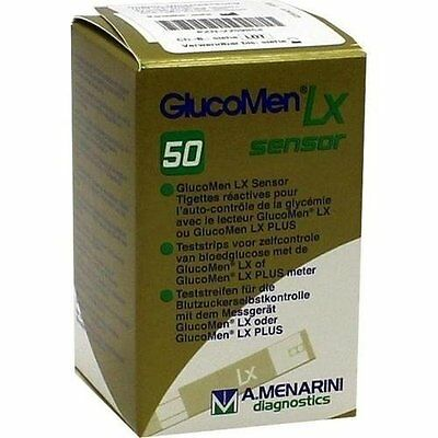 GlucoMen LX Sensor Test Strips 50 Long Exp Dates, Brand New Sealed Boxed