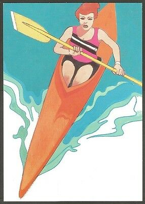 Us Postcard 1984 Olympics Women's Kayaking 20C Stamp La First Day Of Issue