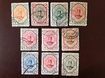 Middle East 1911 10 Values to 3k Between SG361-76 FU