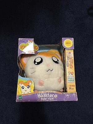 Hamtaro Ham-Ham Plush Stuffed In Box W/VHS Collectible Plush Hamster Toy Tv Show