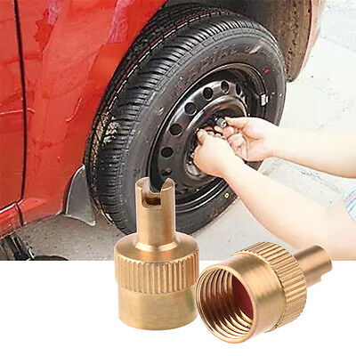 Car Motorcyle Wheel Tire Stem Air Valve Cap Dust Cover Copper
