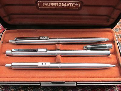 Vintage Paper Mate fountain pen, ballpoint &  pencil - Boxed