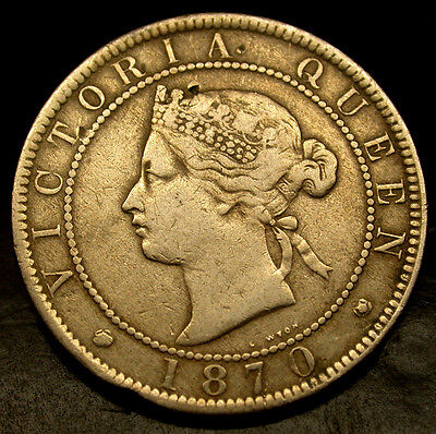 1870 Colonial Jamaica Large Penny A VICTORIAN Era HISTORIC GEM!