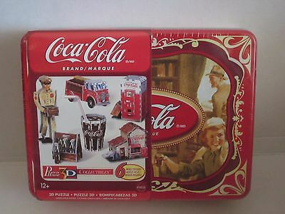 Coca-Cola Icons Collectible Wrebbit Puzz 3D 6 Puzzles In One Tin Brand New