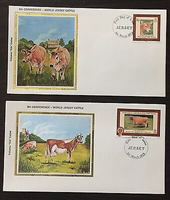 """Jersey #206-7 - World Jersey Cattle FDC on Colorano """"silk"""" Cachets"""