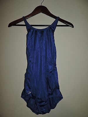 vtg  SPEEDO Blue 1pc competition racing SWIMSUIT 13/14  DEADSTOCK NOS w/ tags