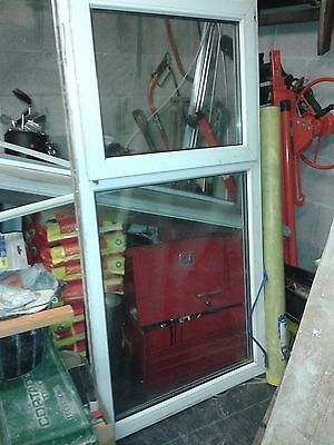 White UPVC Double Glazed Window - used