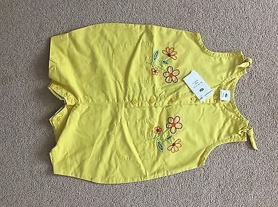 Boots Girls Baby Romper ( Yellow With Embroidery) Age 6-12 Months BNWT