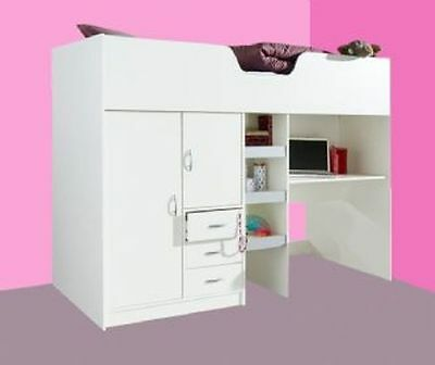 New Cabin Bed Childrens Single Bed High Sleeper R1610W