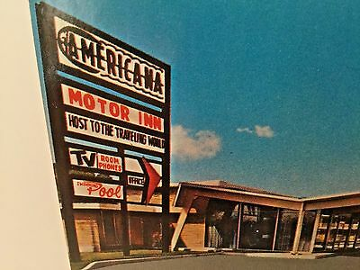 Americana Motor Inn Post Card Batesville, Arkansas - Full Color  43515