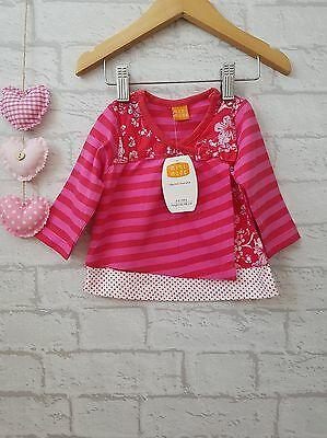 Baby Girls Lovely Pink Patterned Tshirt Top 3-6 Months ☆ Mini Mode ☆