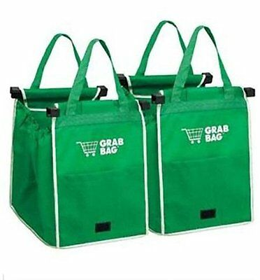 Reusable Shopping Grab Trolley Bag Eco Foldable Tote Grocery Cart Storage 2 pack
