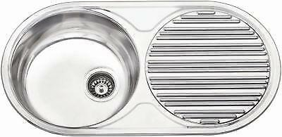 Round Single Bowl Kitchen Sink | 1.0 Stainless Steel Reversible Inset and Wastes