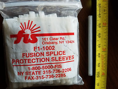 Fusion Splice Protection Sleeves F1-002, 60mm x 5 mm...QTY of 50