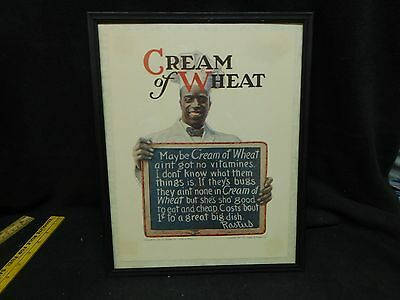 "1920 Cream Of Wheat Cereal ""Raised On"" REPRODOCTION AD"