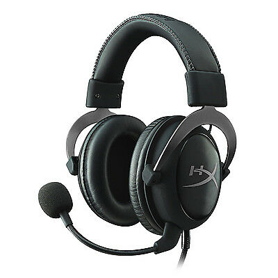 HyperX Cloud II Gaming Headset Headphones PC/PS4/Mac/Mobile - Gunmetal With Mic