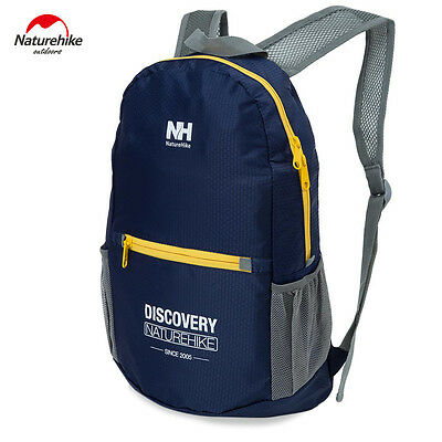 NatureHike 15L Ultralight Fold Outdoor Hiking Backpack Waterproof CADETBLUE
