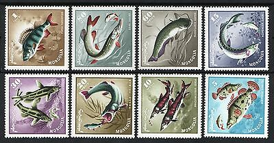 [Mong182]  Mongolia 1965  Fish Issue MNH
