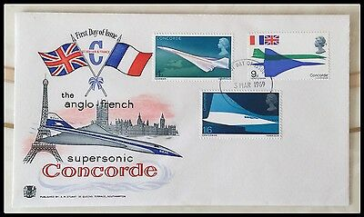 Anglo - French Concorde First Day Issue Cover - 3rd March 1969