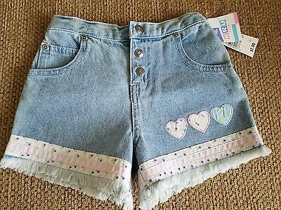Nwt-- Adorable!!!  Baby Girls Shorts With Heart & Ribbon Details  Size 24 Mos.