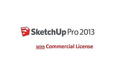 SketchUp PRO 2013 With Commercial License Full Version for Windows