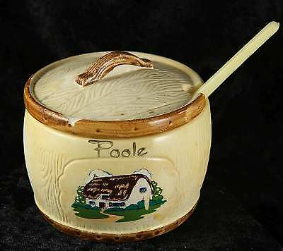 Manor Wear Poole preserve pot with liner & spoon tourist item