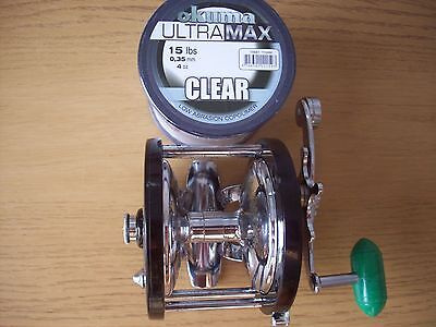 Penn Delmar 285 multiplier sea fishing reel with new spool of line