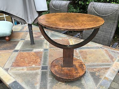 Art Deco, vintage arts and crafts side table solid oak good condition,