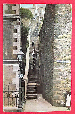 Cornwall - Falmouth, Jacobs Ladder, PC by Pictorial Stationery PM 1909