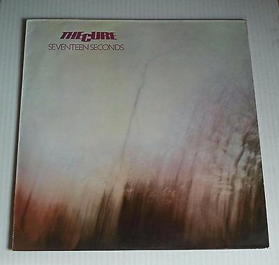 THE CURE - SEVENTEEN SECONDS (LP) Spain Pressing Polydor Reissue from 1986 Vg+