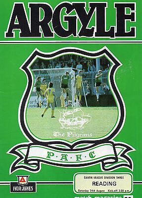 PLYMOUTH  v  READING    85/6