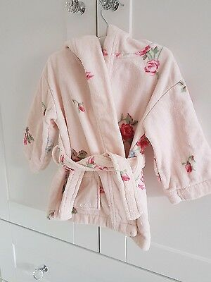 CE. Baby Girls The Little White Company Floral Dressing gown Age 12-18 months