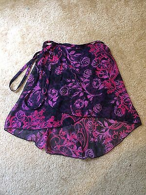 Patterned Black Pink Purple Adult Small Ballet Skirt